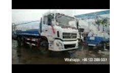 Dongfeng 20 ton 20000liters water tanker truck - Video