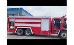 Isuzu Water tank fire truck - Video
