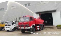 Dongfeng 6X6 12 ton Off-road Fire water truck - Video
