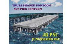 JRPNC PONTOON - Model JR2020 - Truss shaped SUS Pontoon with joint pipe