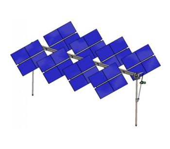 Agrovoltaico - Model 2.0 - Double Axis Tracking Solar System