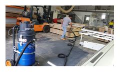 Cyclonic Industrial Vacuum cleaner for Construction industry
