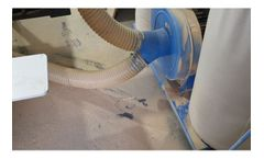 Industrial vacuum cleaner for sawdust and wood dust industry