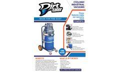 Dirt Eater - Wet & Dry Heavy Duty Cyclonic Industrial Vacuum Cleaner - Brochure
