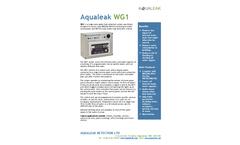 Aqualeak - Model WG1 - Single-Zone Leak Detection System Brochure