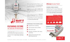 BAT1 Fleshing Score  Brochure