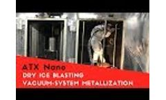 Dry ice blasting of a vacuum system metallization | Cryoblaster Video