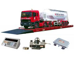 Robust, concrete poured in industrially vibrated weighbridge
