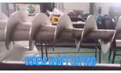 Volute Screw Press Main Shaft Machining - Video