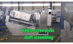 Volute Screw Press Assembling - Video