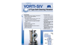 Blade Type Self Cleaning Filters Brochure