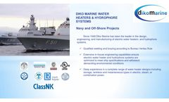 Dikomarine- Offshore and Naval Diko Marine Water Heater - Brochure