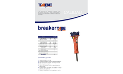 Tabe - Model MT - Hydraulic Breakers for Midi Excavators Brochure
