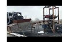 Crushing of oversize + 200mm EAF slag, metal liberation Video