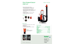 IGEBA - Knapsack Sprayers  Brochure