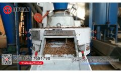 Morocca Sawdust Drying Granulating Production Line/Wood Chips Dryer Video