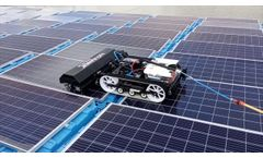Cleaning of Floating Solar Panels with hyCLEANER - System - Video