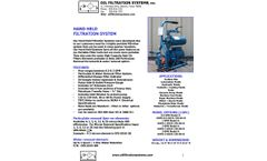 OFS - Hand Held Filtration Systems - Brochure