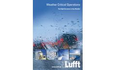 Weather Critical Operations - Brochure