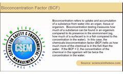 Definition - bioconcentration factor (BCF)- Video