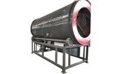 JH - Model TR9082 - Trommel machine for scrap plastic PET bottle bales