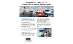 TDI - Model T25 - Turbine Air Starter Ideal for Small Marine Engines - Brochure