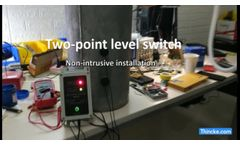 Two point level switch (Non-invasive installation) - Video