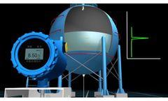 Ultrasonic Level Gauge   Non-Contact level sensor   External measurement   Stick sensor on the tank - Video