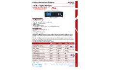 Model Cat # ARCMP500-NA - ZRA MP 500 - Trace Oxygen Analyzer - Datasheet