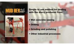 MudHen portable concrete slurry water recycling system - Video