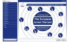 The European Arrest Warrant: 10 Key Questions for Defence Counsel e-Learning Course