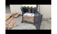 Video of Marine Waste Baler Vessels Cardboard Press Machine