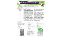 GPL - Model 100 - Thermal Mass Flow Meter - Brochure