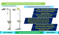 Unicare - Model LSE 7/8 - Emergency Eyewash Station with Safety Shower in Bangladesh