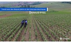 100% electric straddling robot in the vineyard working the soil mechanically with Bakus from VitiBot- Video