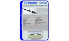 CO-L-MAR - Model GP1516 - Preamplified Cylindrical Hydrophone - Brochure