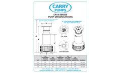 Carry - Model CP10 - High Volume Axial Flow Pump - Brochure