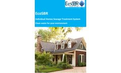 Individual Home Sewage and Wastewater Treatment System - Brochure
