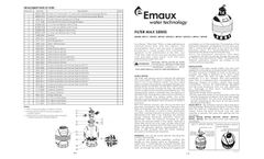 Emaux - Model Max - MFV Series - Top Mount Filter - Manual