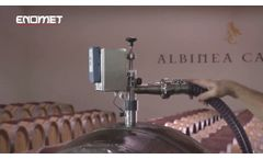Motorized emptying of ENOMET Barriques and Tonneaux - Video