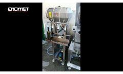 Semi-automatic bottling line for Enomet still wine - Video