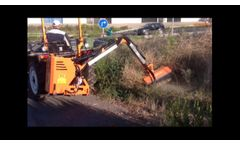 ESDESB800HZ. Hedge cutter with hydraulic arm Loire 800 mm | Zeppelin - Video