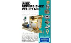Servoday - Used Refurbished CPM Pellet Mills