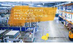 Factory for Premium Photovoltaics Modules - Video