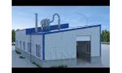Cassava flour processing plant design cassava flour production process