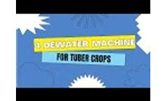 4 different types of dewatering machine's designs for tuber crops