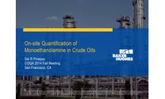 Chemical Detection Solutions for Oil and Gas Applications - Oil, Gas & Refineries - Brochure