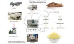 Big output and fast processing capacity garri processing machine for cassava processing plant
