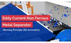 Eddy Current Non Ferrous Metal Separator - Working Principle [3D Animation] - Video