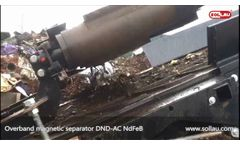 Overband Magnetic Separator DND-AC NdFeB - Video